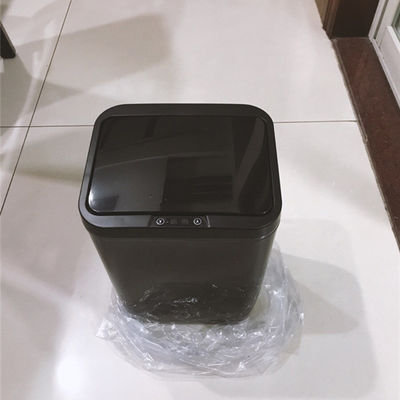 China Hotel Rectangle Automatic Trash Bin , Top Open Auto Sensor Trash Can supplier